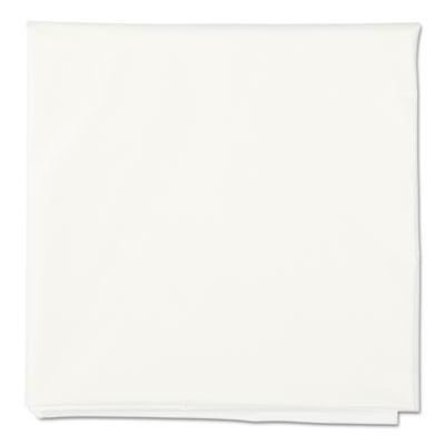 "Octy-Round Plastic Tablecover, 84"" diameter, White, 12/Carton"