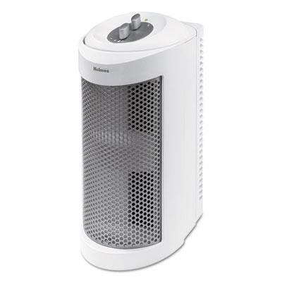 Allergen Remover Air Purifier Mini-Tower with True HEPA Filter, Three Speeds