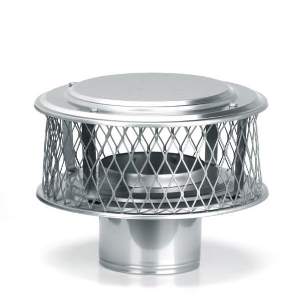 "4"" HomeSaver Stainless Steel Guardian Cap, 316 Alloy, 3/4 Mesh"