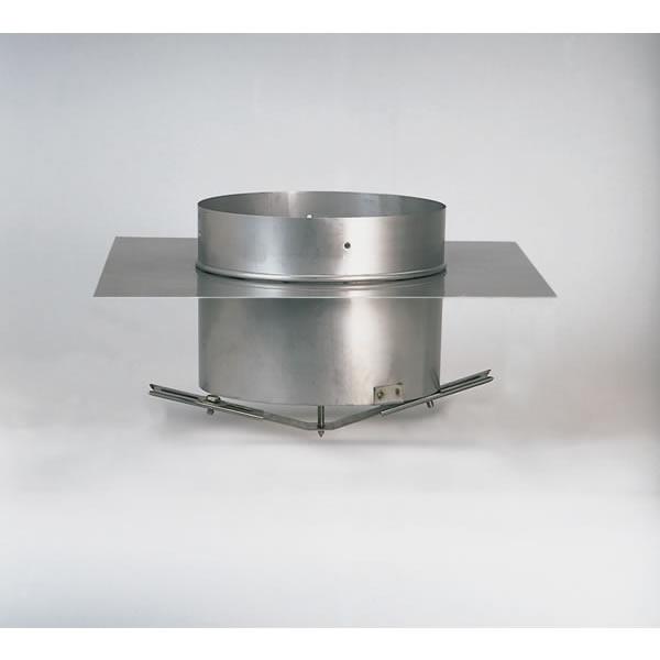"""10"""" HomeSaver Windbeater Stainless Steel Adaptor For Masonry Flue Tile"""