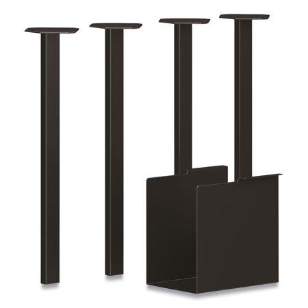 Coze Table Legs, 5.75 x 28, Black, 4/Pack