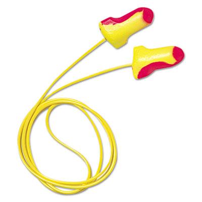 LL-30 Laser Lite Single-Use Earplugs, Corded, 32NRR, Magenta/Yellow, 100 Pairs