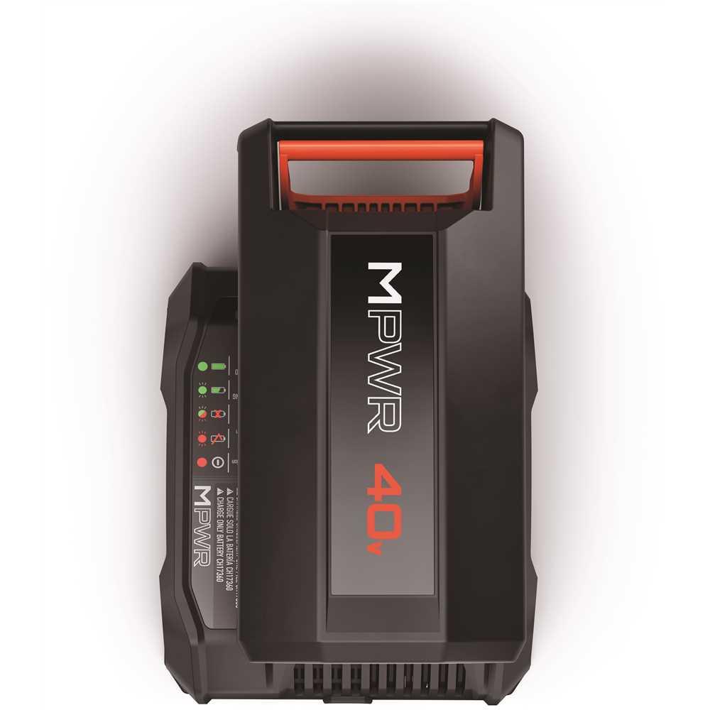 HVRPWR 40V Lithium Battery, 6 Ah, 60 Min Charge Time, Black/Red