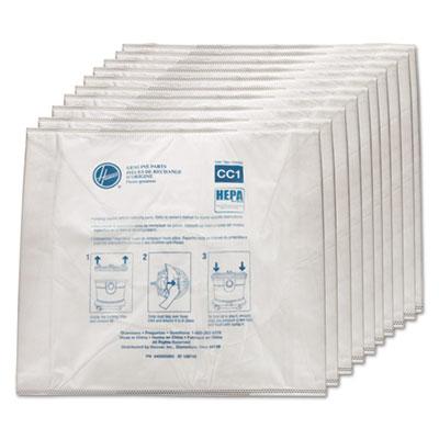 Disposable Vacuum Bags, Hepa CC1, 10/Carton