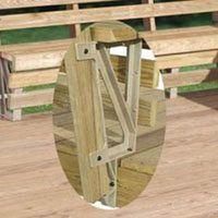 Deckmate 90166 Deck Bench Bracket with Bench Bracket, Structural Resin