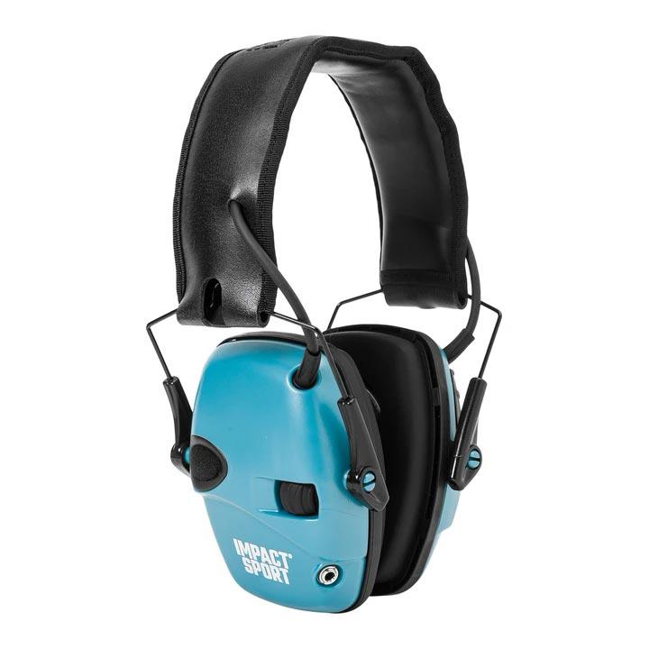 Howard Leight Impact Sport Electronic Earmuff - Teal Blue