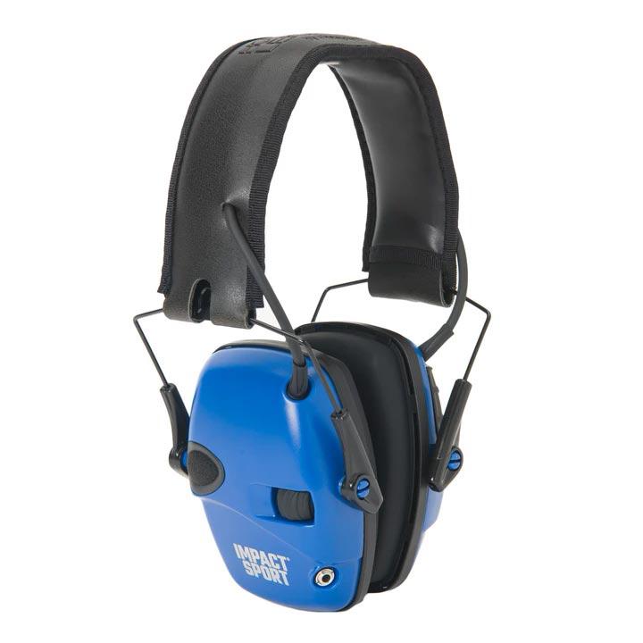 Howard Leight Impact Sport Electronic Earmuff - Blue