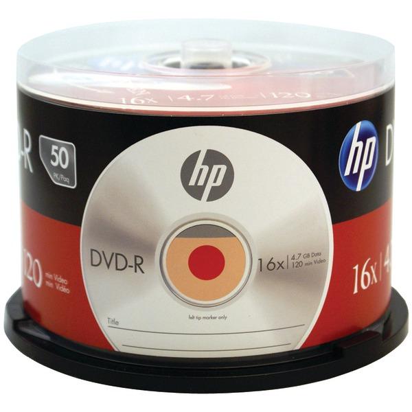 HP DM16050CB 4.7GB 16x DVD-R (50-ct Cake Box Spindle)