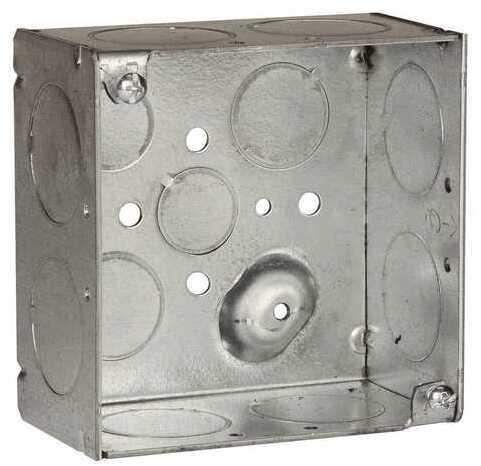 8233 4 IN. SQUARE 2 1/8 IN. DP WELDED BOX