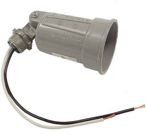 5606-5 GRAY SINGLE LAMPHOLDER