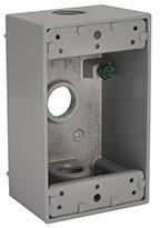 5320-0 GR SINGLE GANG OUTDOOR BOX