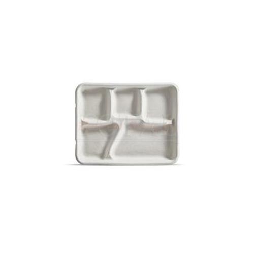 "Savaday Cafeteria Tray, 8 1/4"" x 1"" x 10 3/8"", White, 240/Carton"