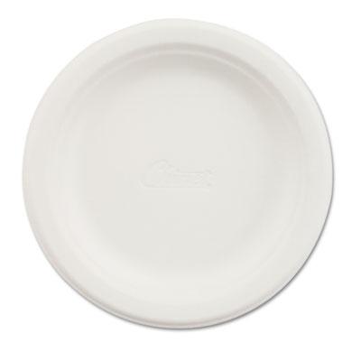 """Paper Dinnerware, Plate, 6"""" dia, White, 125/Pack"""