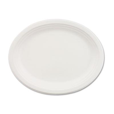 Classic Paper Dinnerware, Oval Platter, 9 3/4 x 12 1/2, White, 500/Carton