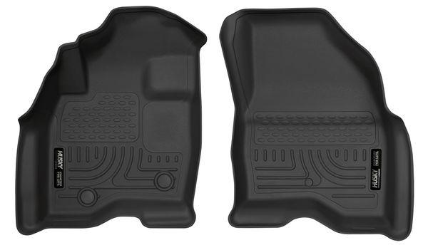 Husky 2015-19 Ford Explorer Weatherbeater Front Floor Liners 2 Pack Black