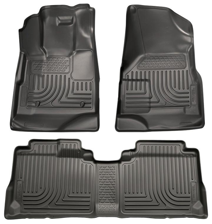 Husky Liners Front & 2nd Seat Floor Liners Fits 2010-2017 Equinox/Terrain-Black
