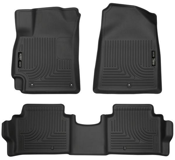 Husky 2017-2020 Hyundai Elantra Weatherbeater Front & 2nd Seat Floor Liners Black