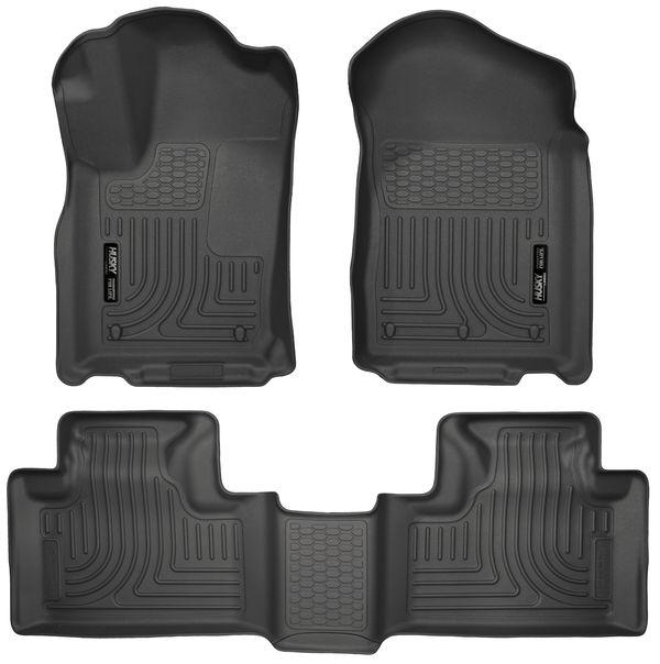 Husky Liners Front & 2nd Seat Floor Liners 11-15 DODGE/JEEP DURANGO/GRAND-Black