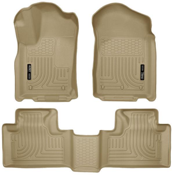 Husky Front & 2nd Seat Floor Fits 11-15 Durango/ Grand Cherokee Tan