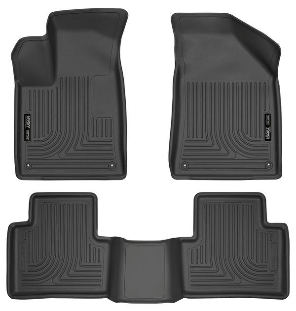 Husky Front & 2nd Seat Floor (Footwell Coverage) '15-'16 Chrysler 200 Black
