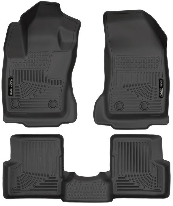 Husky 2015-2020 Jeep Renegade Weatherbeater Front & 2nd Seat Floor Liners Black