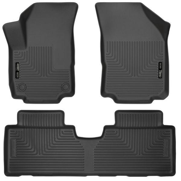 Husky 2018-20 Chevrolet Equinox Weatherbeater Front & 2nd Seat Floor Liners Black