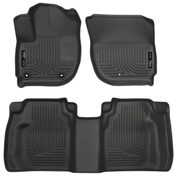 Husky 2015-2020 Honda Fit Weatherbeater Front & 2nd Seat Floor Liners Black