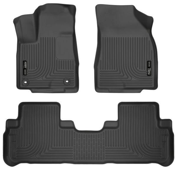 Husky 2014-19 Toyota Highlander Weatherbeater Front & 2nd Seat Floor Liners Black