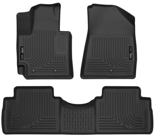 Husky 2014-19 Kia Soul Weatherbeater Front & 2nd Seat Floor Liners Black