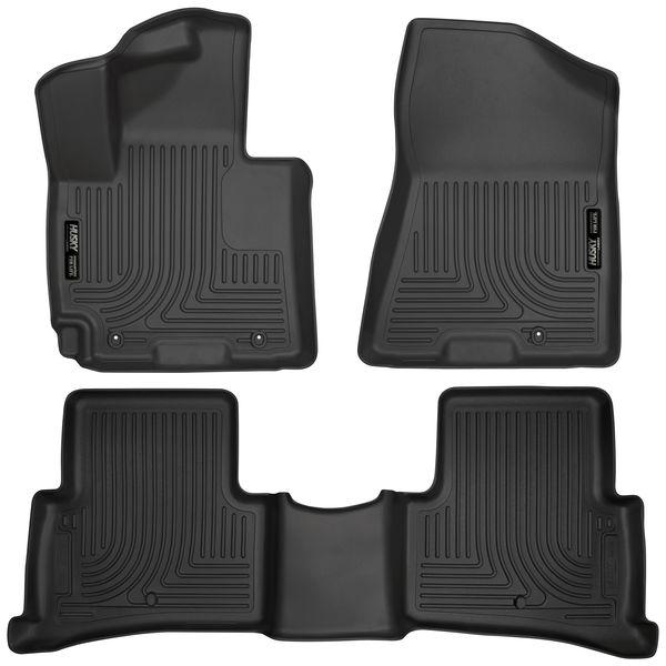 Husky '16-18 Hyundai Tucson Weatherbeater Front & 2nd Seat Floor Liners Black