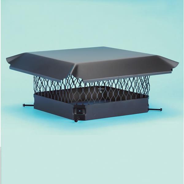 "9"" X 9"" Hy-C Galvanized Steel Single-Flue Cap - CBO99"