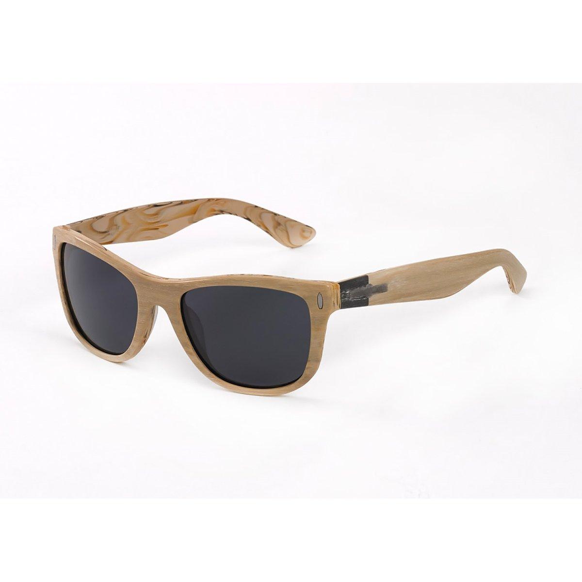 Hang Ten Gold The Wavefarer-Pine Wood/Smoke Lens