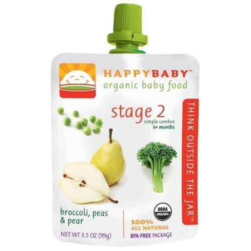 Happy Baby Broccoli, Peas & Pear Stage 2 Baby Food (16x35 Oz)