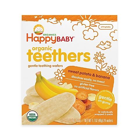 Happy Baby Teethers Teething Wafers Sweet Potato & Banana (6x17 OZ)