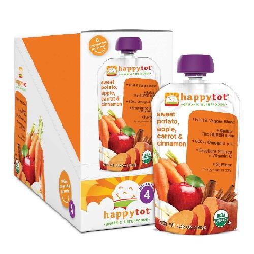 Happy Baby Sweet Potato, Carrot, Apple Baby Stage 4 Food (16x422 Oz)