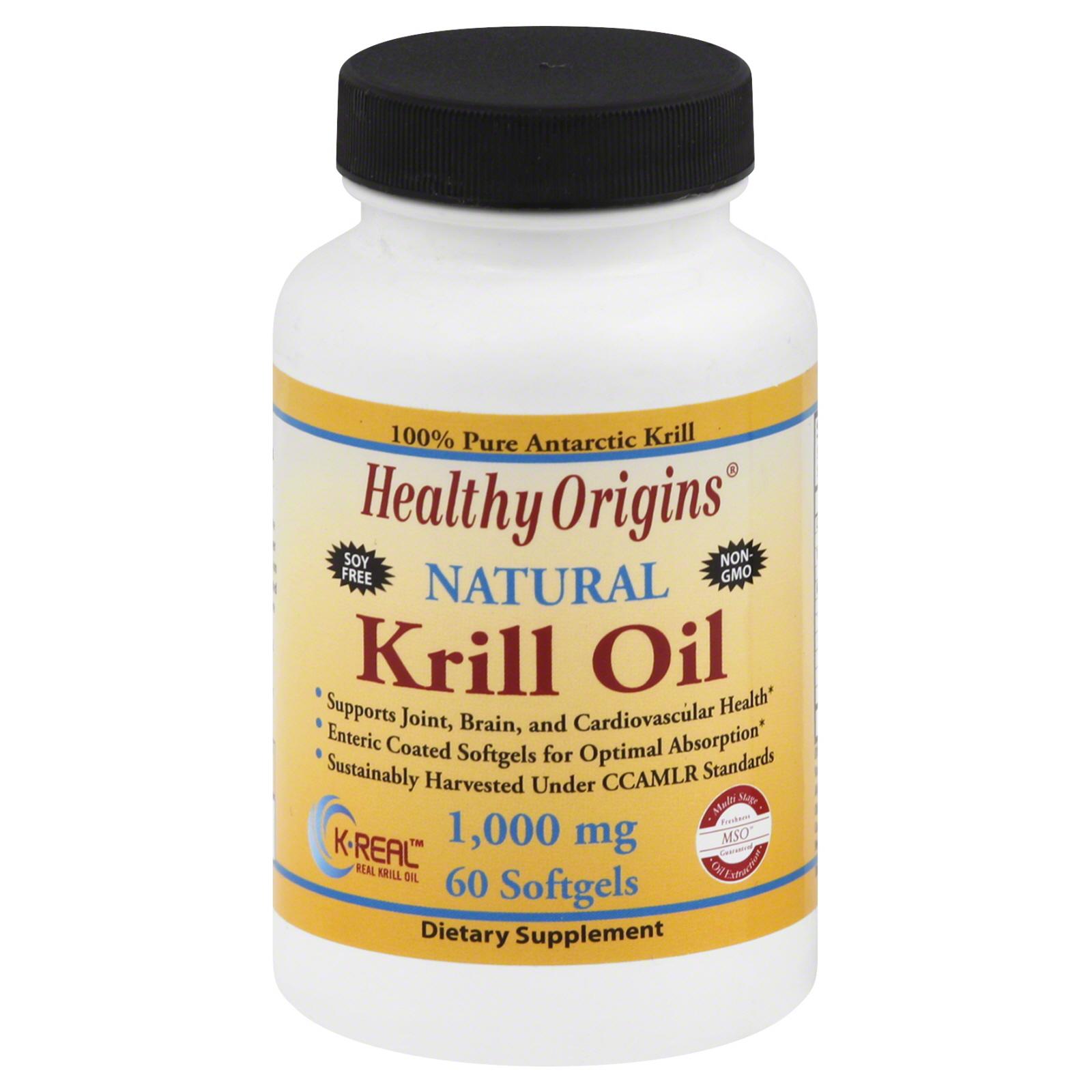 Healthy Origins Krill Oil 1000 mg (60 Softgels)