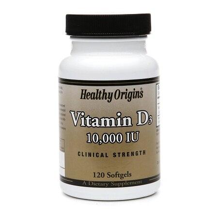 Healthy Origins Vitamin D3 10000 IU (120 Softgels)