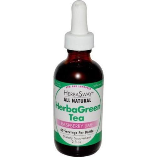 Herbasway Laboratories HerbaGreen Tea Raspberry Lime 2 fl Oz