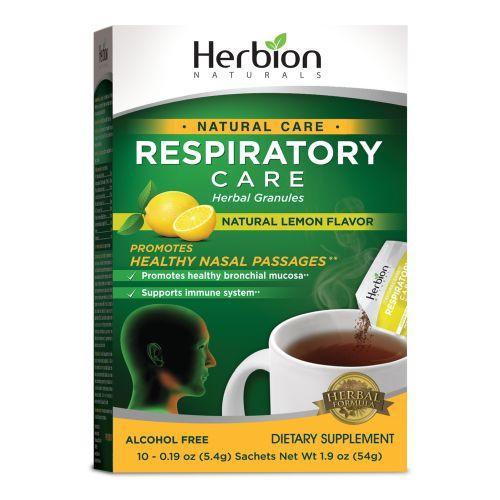 Herbion Naturals Respiratory Care  Natural Care  Herbal Granules  Lemon  10 Packets