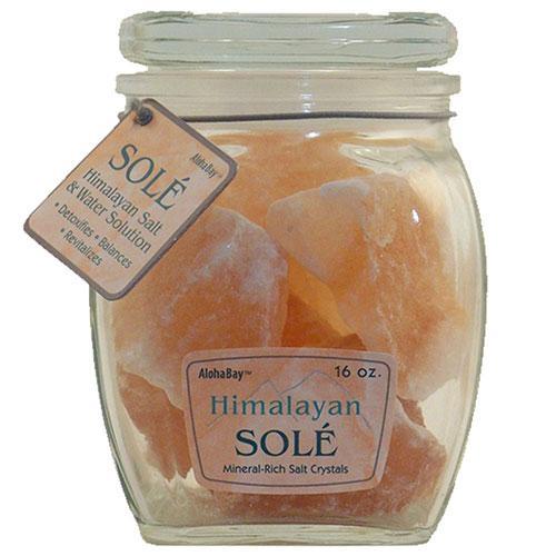 Himalayan Salt Sole Salt Chunks in Jar 16 Oz
