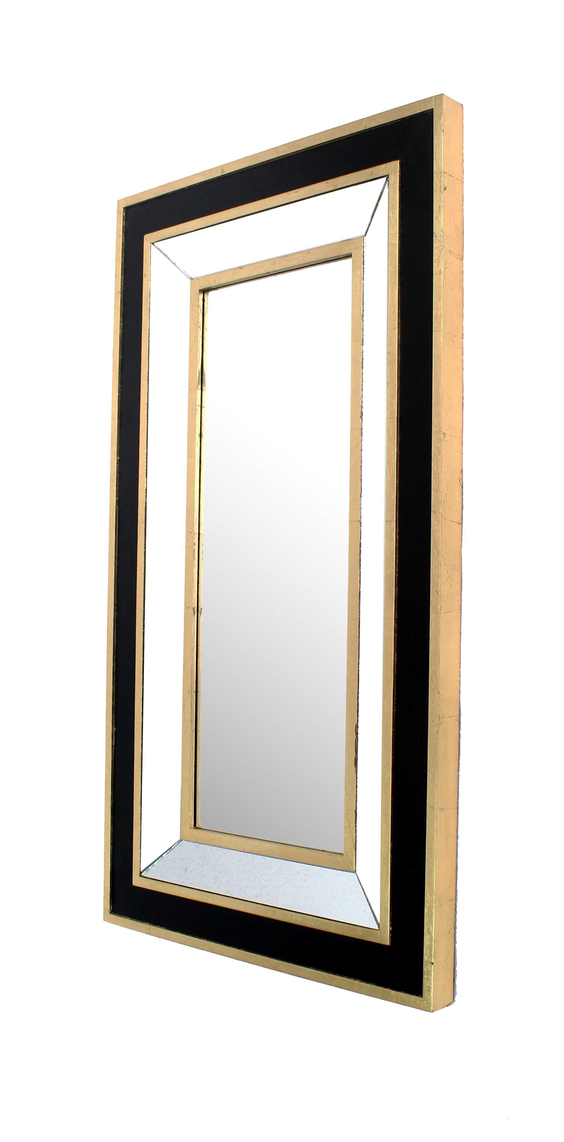 "43"" x 24"" x 2"" Black & Gold, Classic Dressing - Mirror"