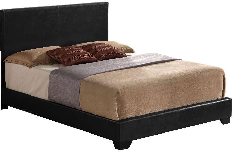 "86"" X 79"" X 47"" Black Pu Panel King Bed"