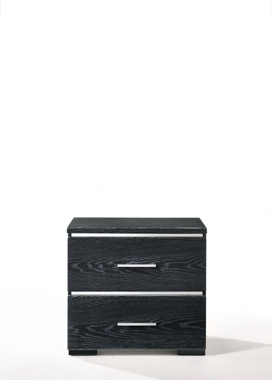 "15"" X 22"" X 23"" Black (High Gloss) Wood Veneer (Paper) Nightstand"