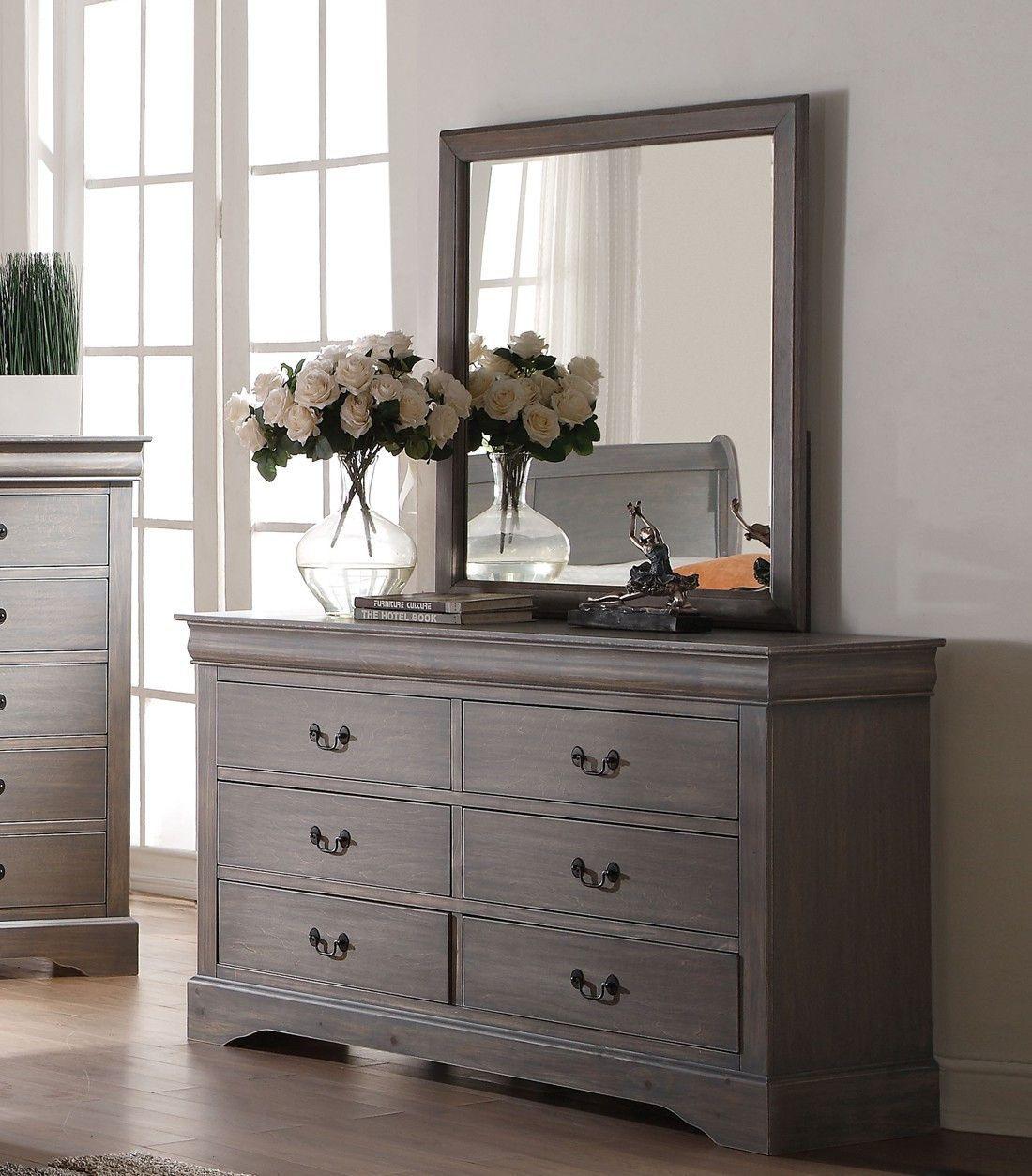 "36"" X 1"" X 38"" Antique Gray Glass Mirror"