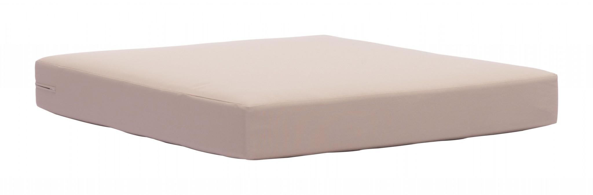 "30.3"" x 30.3"" x 3.9"" Taupe, Sunproof Fabric, Foam, Beach Seat Cushion"