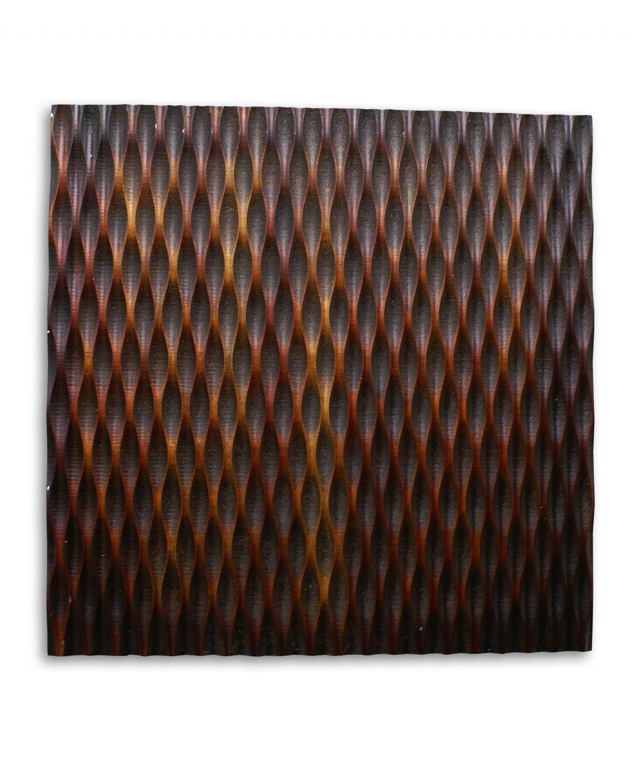 """1"""" x 24"""" x 24"""" Brown, Metallic Ridge - Wall Art"""