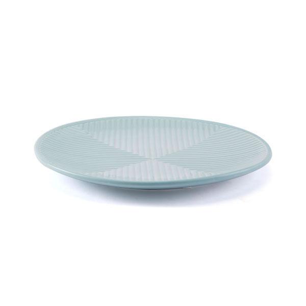 "12.8"" X 12.8"" X 1.2"" Blue Herringbone Pattern Plate"