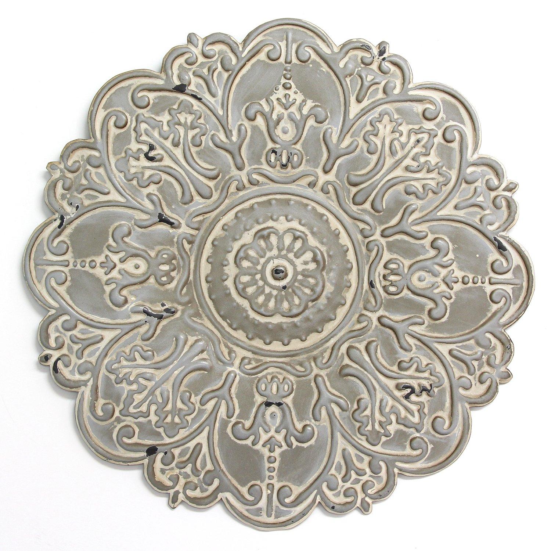 Small Gray Medallion Wall Decor