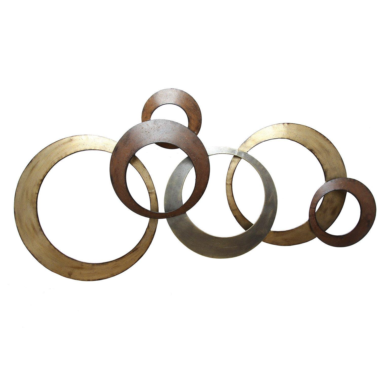 Multi-Metallic Ring Wall Decor