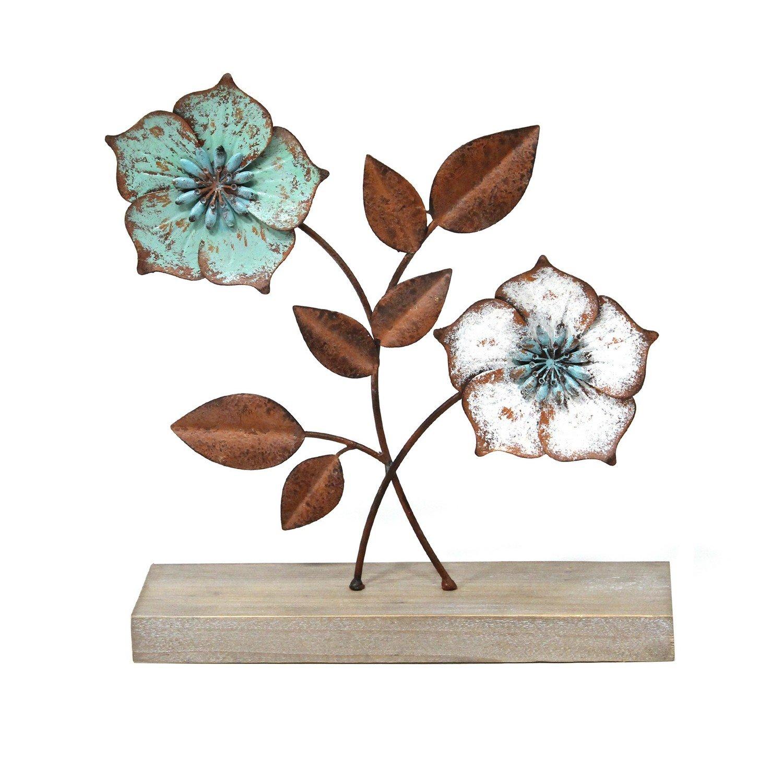 Distressed Metal Flower Tabletop